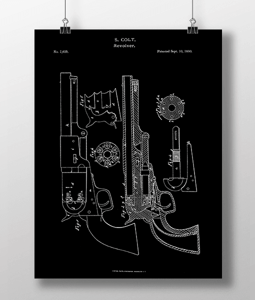 Pistol Revolver Patent | Plakat 1