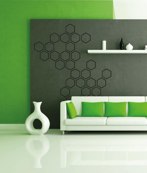 Wallsticker hexagon 1