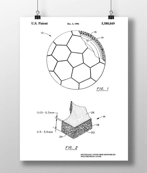Soccer Ball Patent | Plakat 1