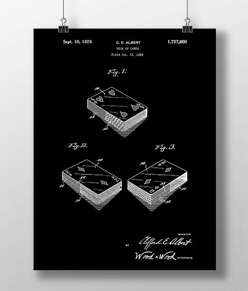 Spillekort Patent | Plakat 2