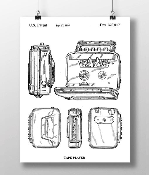 Walkman Patent   Plakat 2