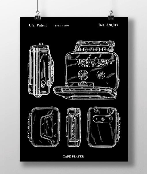 Walkman Patent   Plakat 1