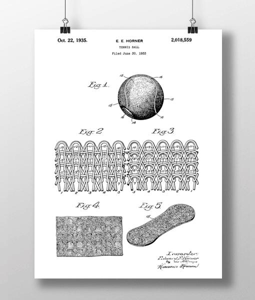 Tennis Ball Patent | Plakat 1