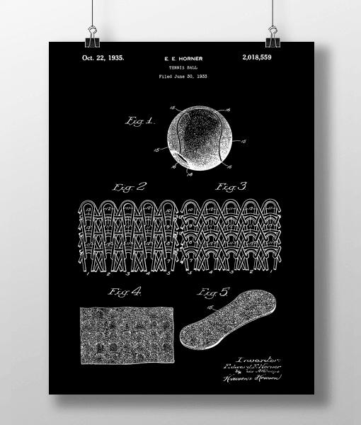 Tennis Ball Patent | Plakat 2