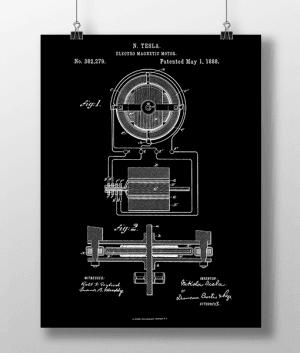 Tesla Motor 1 Patent | Plakat 3