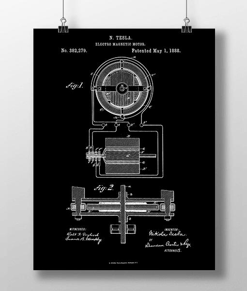 Tesla Motor 1 Patent | Plakat 2