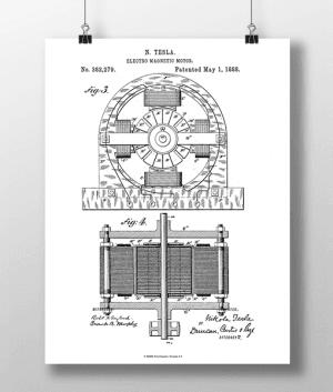Tesla Motor 2 Patent | Plakat 3