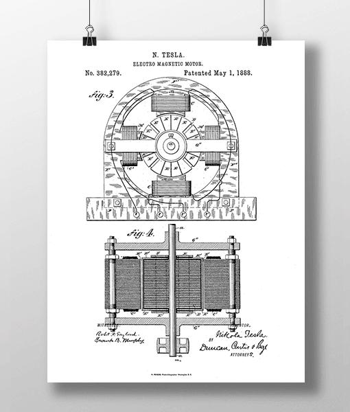 Tesla Motor 2 Patent | Plakat 2
