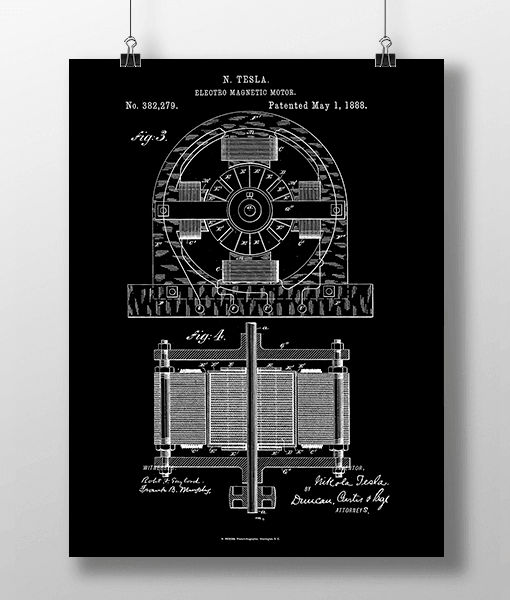 Tesla Motor 2 Patent | Plakat 1