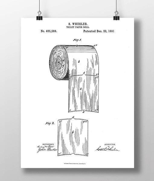 Toilet Roll Patent | Plakat 1