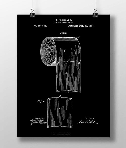 Toilet Roll Patent | Plakat 2
