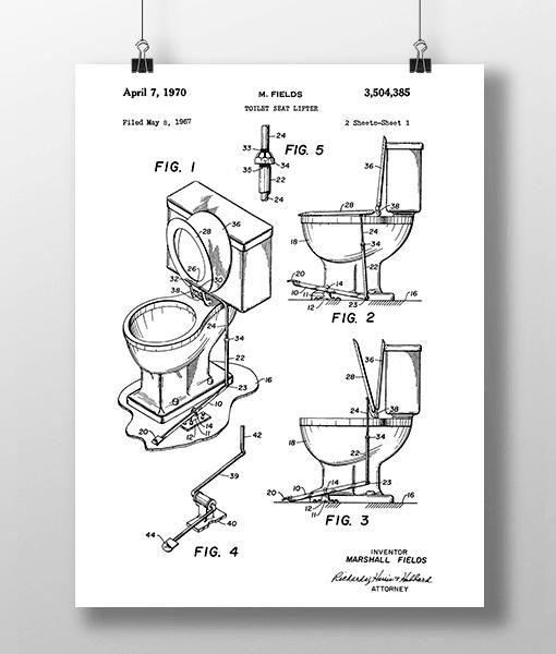 Toilet Seat 1 Patent | Plakat 2