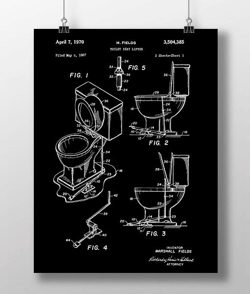 Toilet Seat 1 Patent   Plakat 1