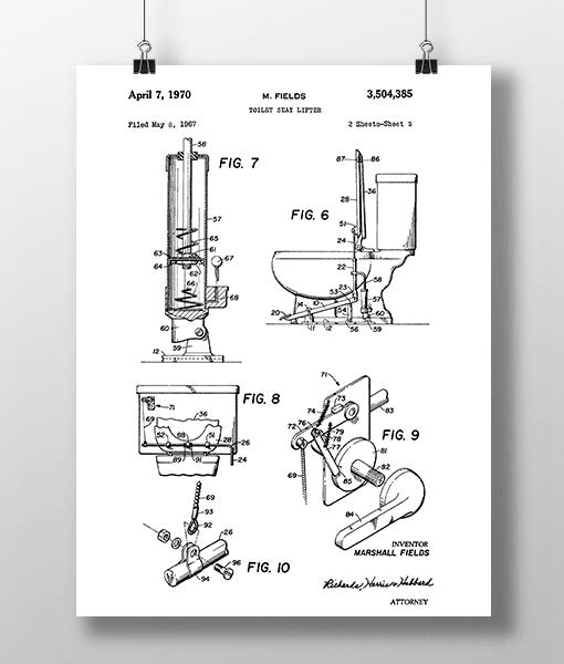 Toilet Seat 2 Patent | Plakat 1
