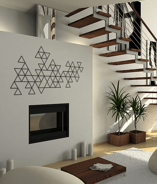 Wallsticker trekanter 1