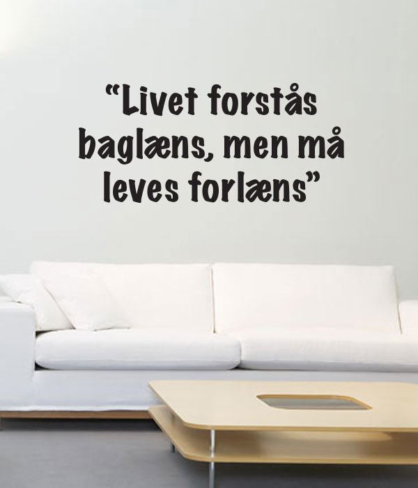 wallstickers tekst livet leves 1