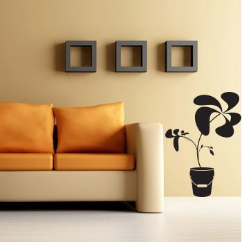 wallstickers blomster funky 1
