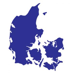 Wallstickers Danmarkskort 10