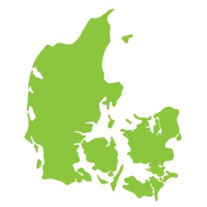 Wallstickers Danmarkskort 14