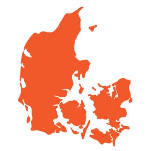Wallstickers Danmarkskort 15