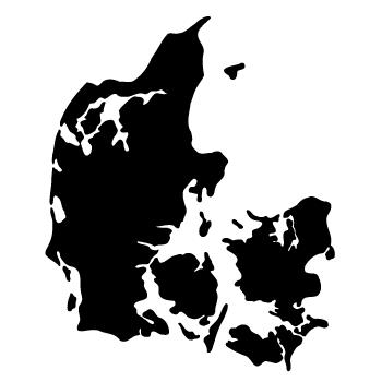 Wallstickers Danmarkskort 9