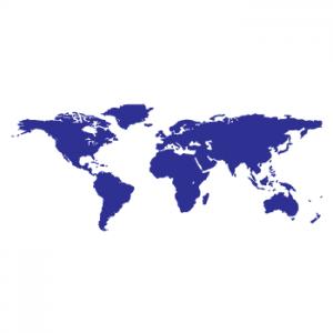 Wallstickers verdenskort 10