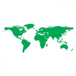 Wallstickers verdenskort 17