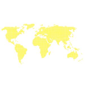 Wallstickers verdenskort prikker 16