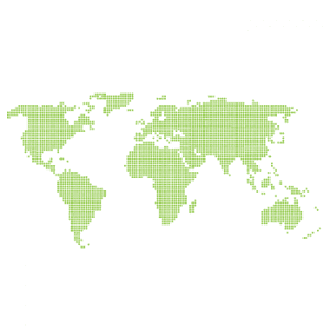 Wallstickers verdenskort prikker 14