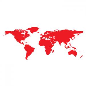 Wallstickers verdenskort 12