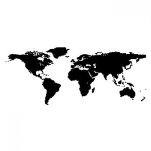 Wallstickers verdenskort 11