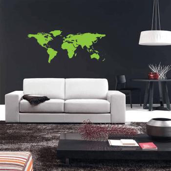 Wallstickers verdenskort 1